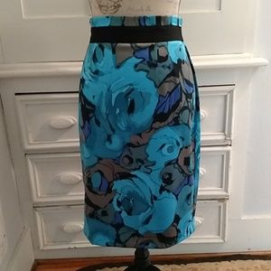 New York and Co floral skirt Sz 10